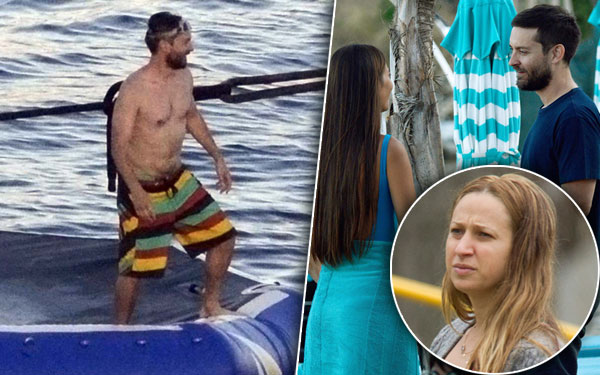 Tobey Maguire Shirtless Yacht Career Problems Wife Pics 10