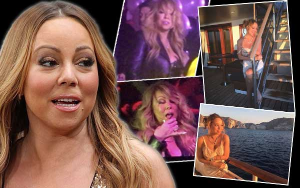 Mariah Carey Naked Lingerie Boat Drunk Pics 1