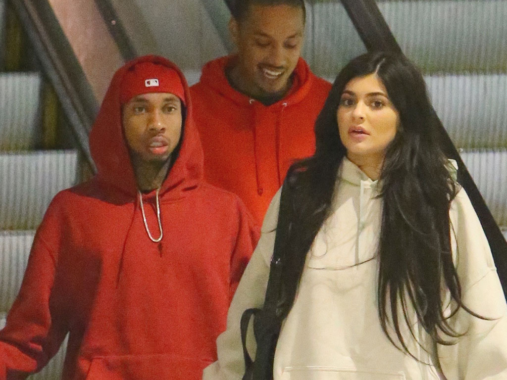 EXCLUSIVE: **PREMIUM RATES APPLY** Kylie Jenner and Tyga are spotted holding hands as they leave a movie theatre in Los Angeles.