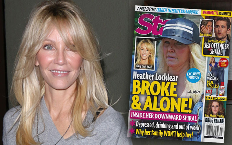 Heather Locklear Weight Gain Bruised Chin Nose Wound Pics 1