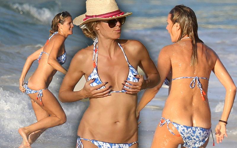 Heidi Klum Naked Bikini Butt Wardrobe Malfunction Pics 2