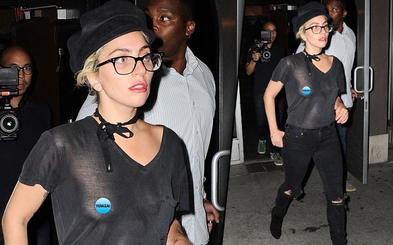 Lady Gaga Boobs Nipples Sheer Top Pics 1