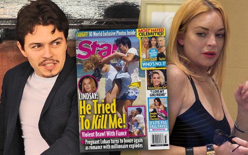 Lindsay Lohan Fiance Kill Claims Pregnant Pics