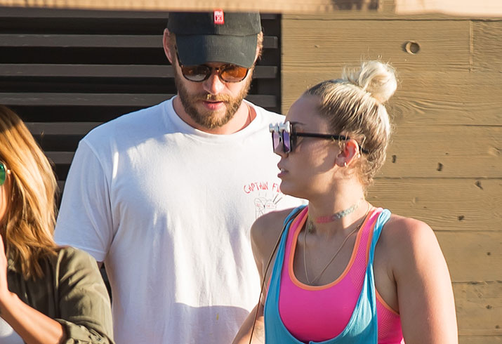 Miley cyrus stops partying engaged liam hemsworth