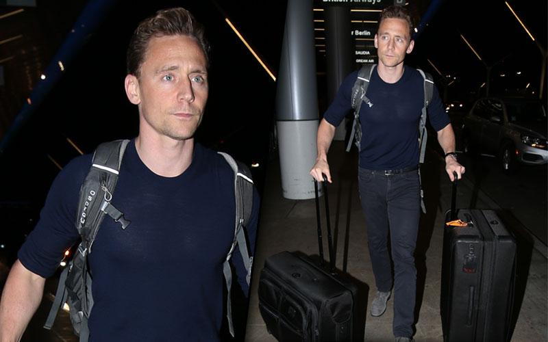 Tom Hiddleston Taylor Swift Dating Breakup Rumors Leaving LA Pics 8
