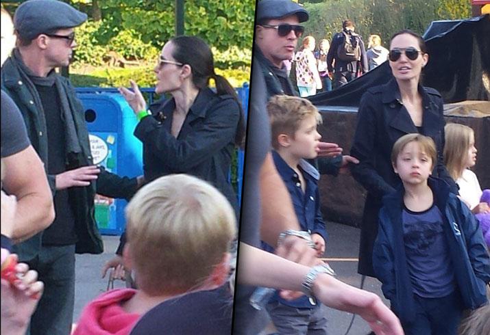 Brad Pitt Angelina Jolie Divorce Fight Kids Children Legoland 4