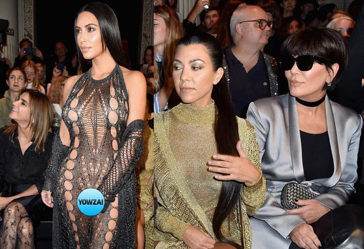 Kim kardashian near nude photos paris fashion week 01