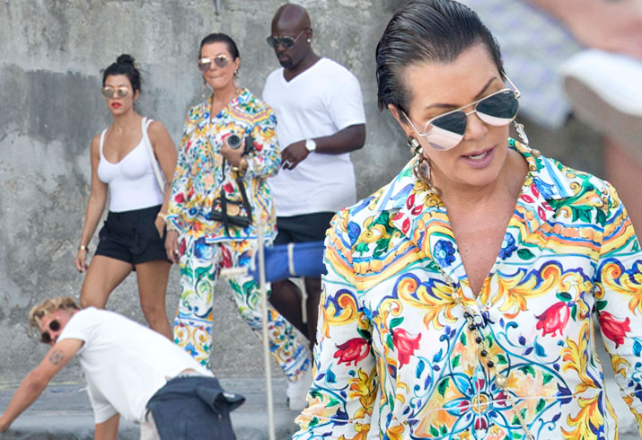 Kris Jenner Kourtney Kardashian Italy Vacation Pics 2