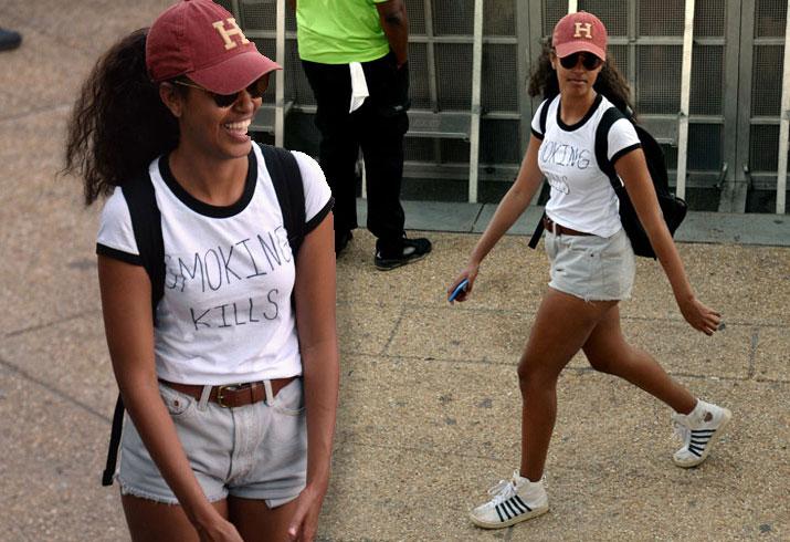 Malia Obama Daughter Smoking Kills Concert Pics 1