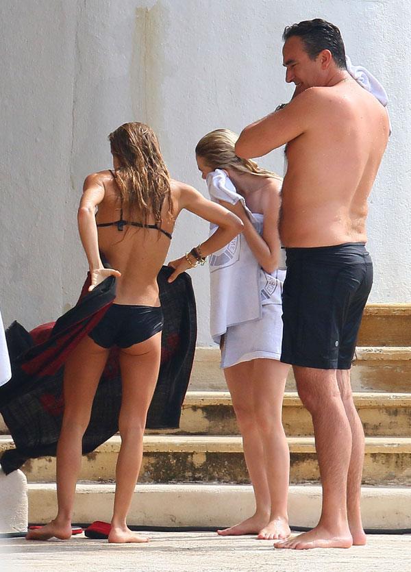 Mary Kate y Ashley Olsen fueron captadas en bikini