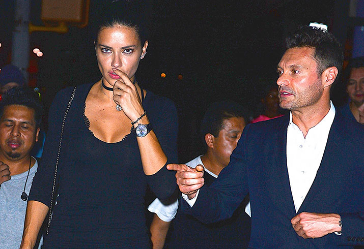 Ryan seacrest dating adriana lima dinner nyc