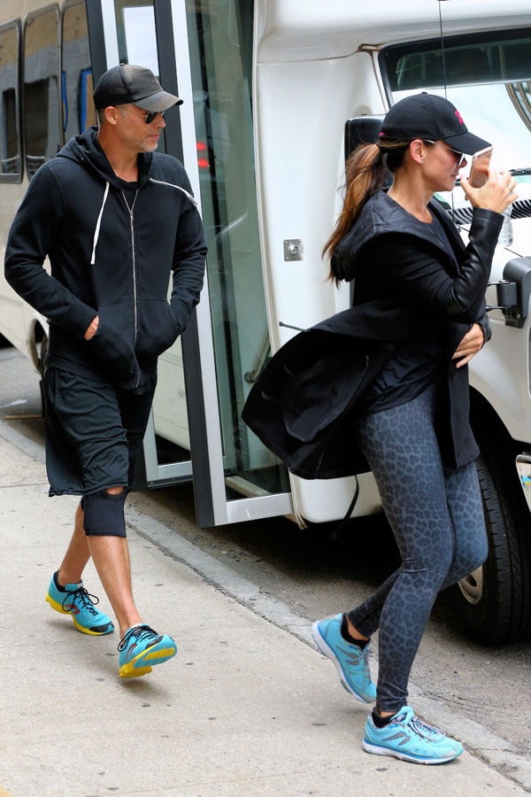 Sandra Bullock Shows Off Giant Ring With Boyfriend Bryan Randall In NYC