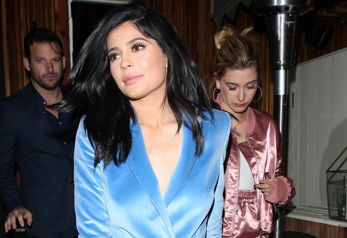 Kylie Jenner And Hailey Baldwin Party At The Nice Guy Club Together