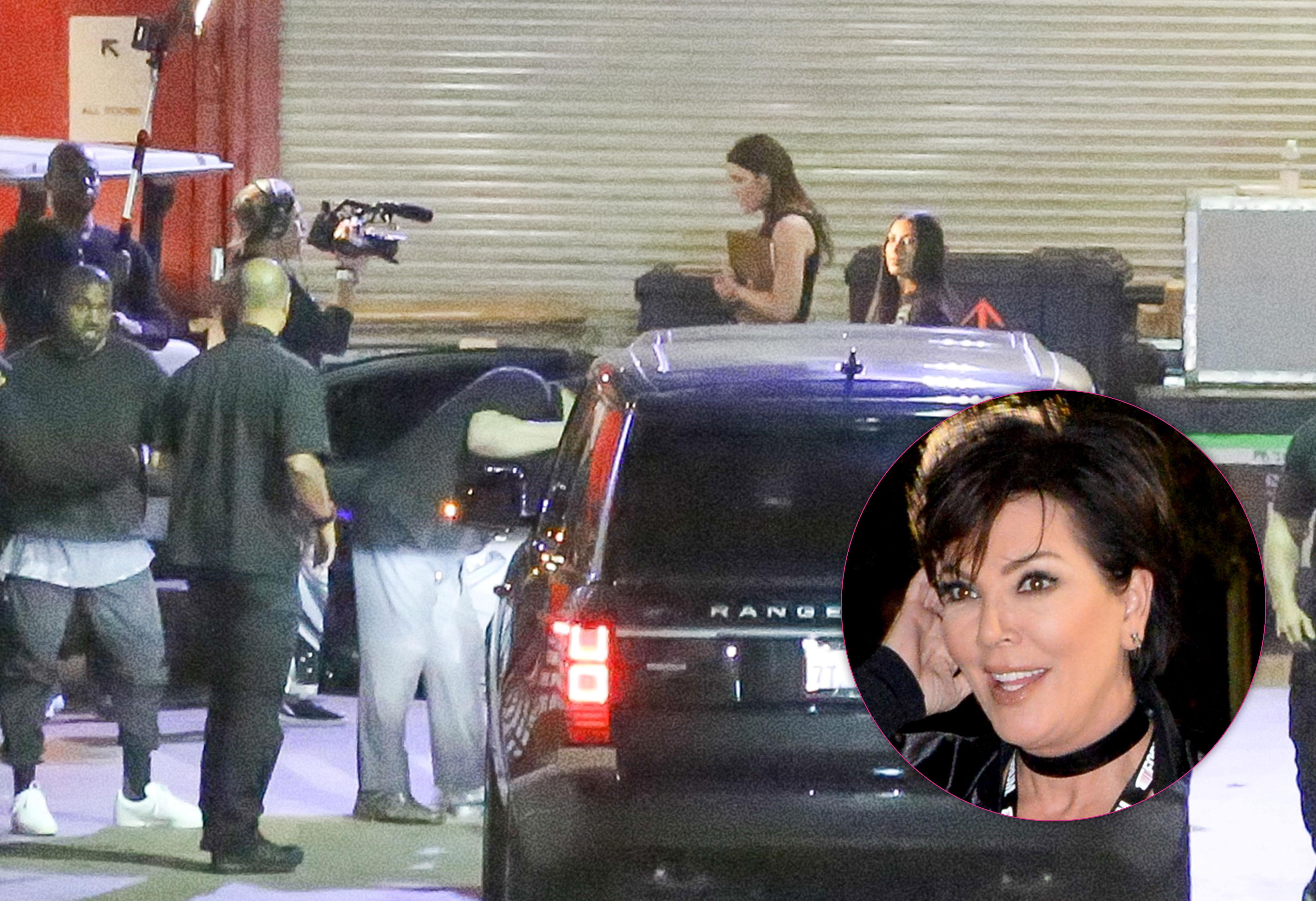 Kim kardashian films kuwtk after robbery 08