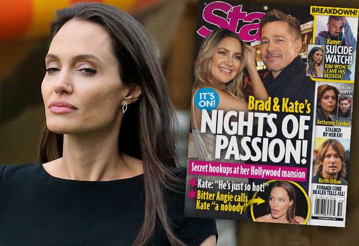 Brad Pitt Angelina jolie Divorce Hooking Up Kate Hudson 1