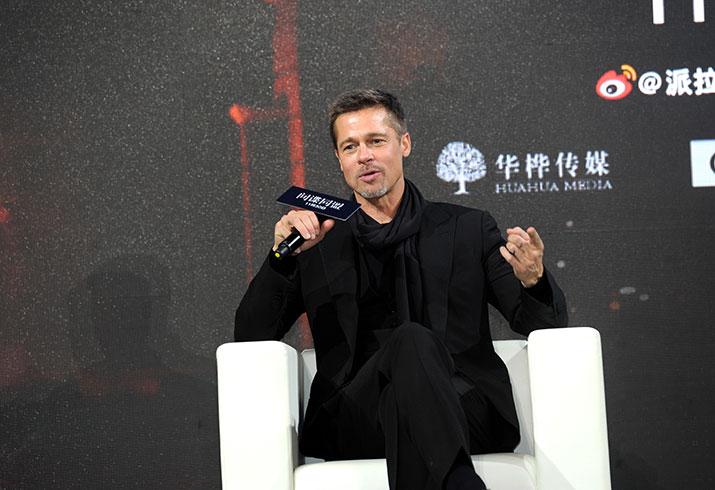 Brad pitt divorce press tour allied movie china