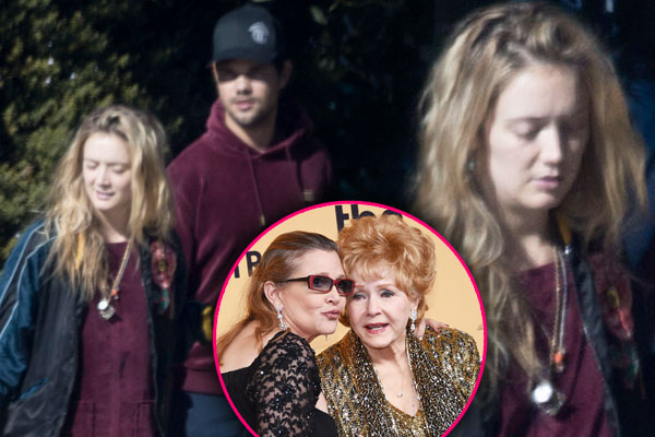 Billie lourd mother carrie fisher death taylor lautner star pp