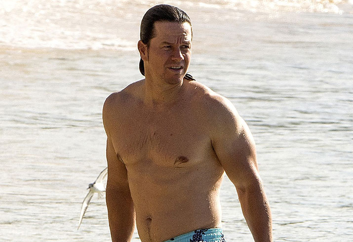 Mark wahlberg shirtless beach body vacation