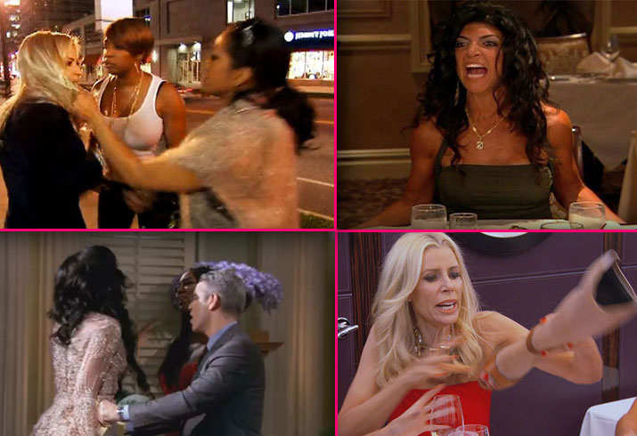 Real housewives feuds fights rhony rhoc rhoa rhobh bethenny frankel vicki gunvalson star pp