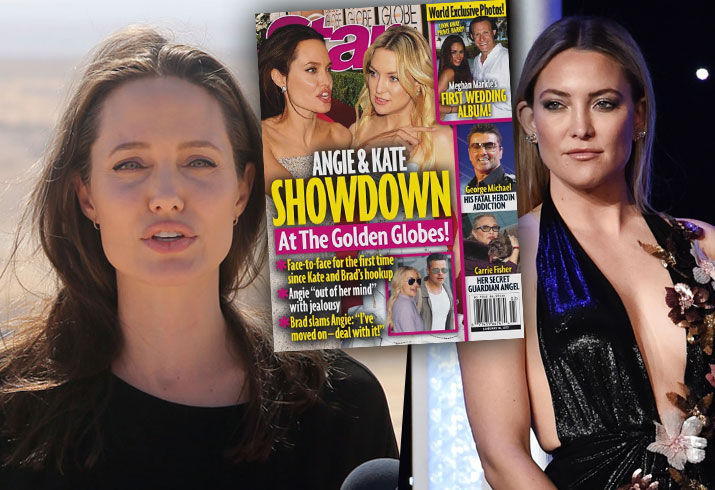 Brad Pitt Angelina Jolie Divorce Kate Hudson Feud Golden Globes Fight 1