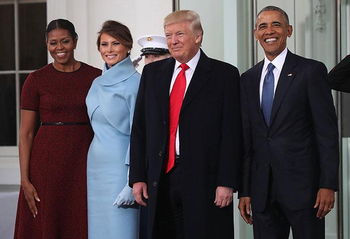 Donald trump inauguration day melania trump 2017