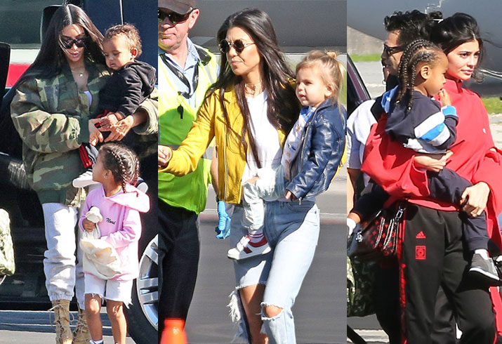 Kardashian family private plane costa rica vacation