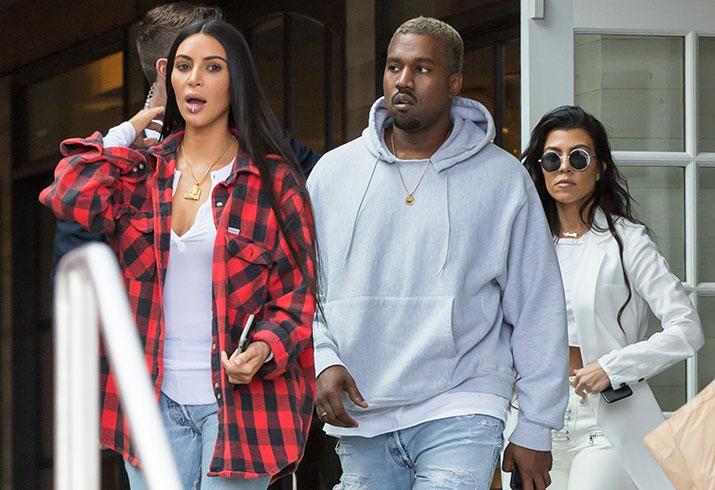 Kim kardshian kanye west kourtney kardashian lunch los angeles