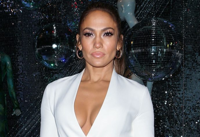 Jennifer Lopez keeps it classy at the launch of her collaboration with Giuseppe