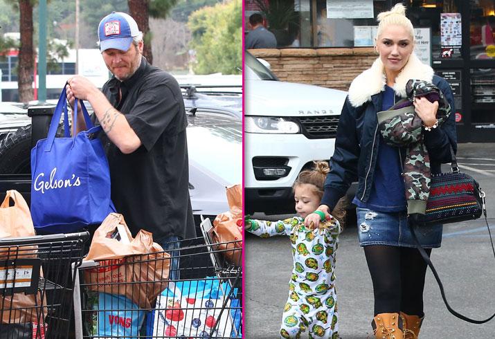 Gwen Stefani Blake Shelton Grocery Store Son Apollo PP