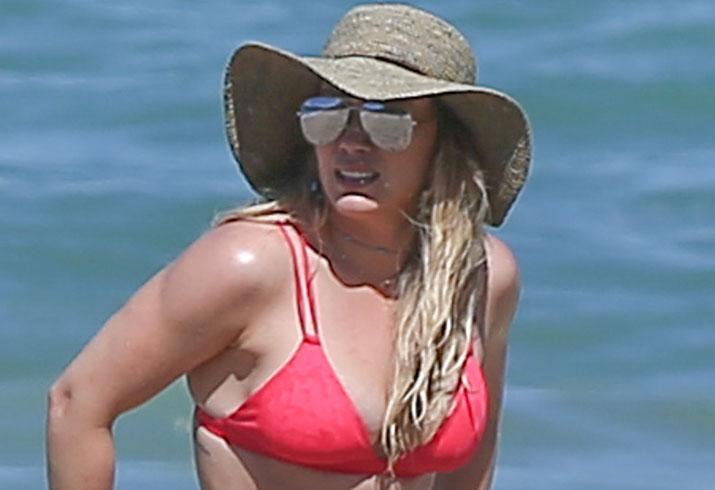 Hilary Duff Bikini Beach Mexico