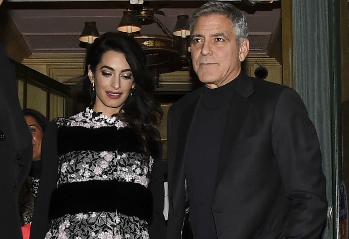 Alam clooney pregnant twins bum george clooney
