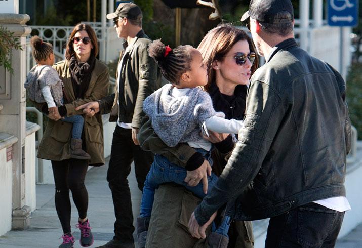 Sandra Bullock Caught Acting Frosty Toward Boyfriend Bryan ... Sandra Bullock Children
