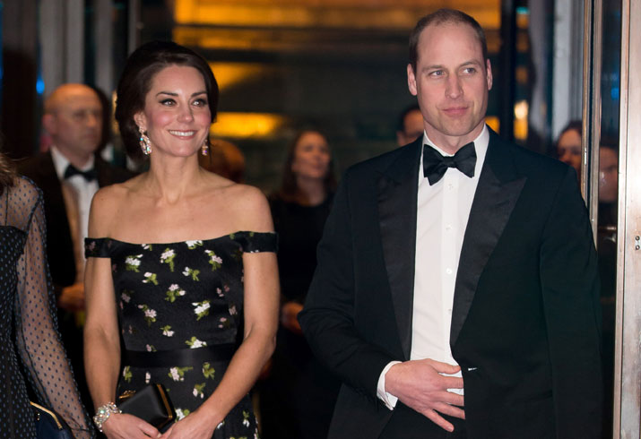 Kate middleton prince william attend baftas 02