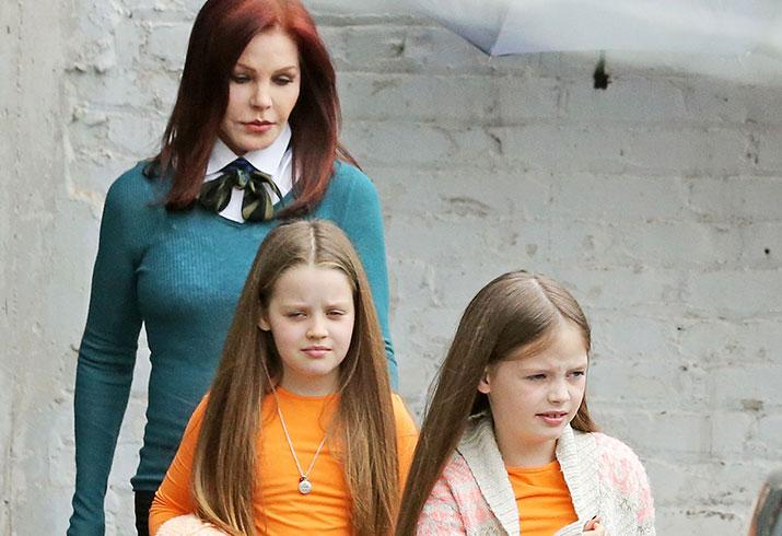 Lisa marie presley twins girls priscilla presley protective custody
