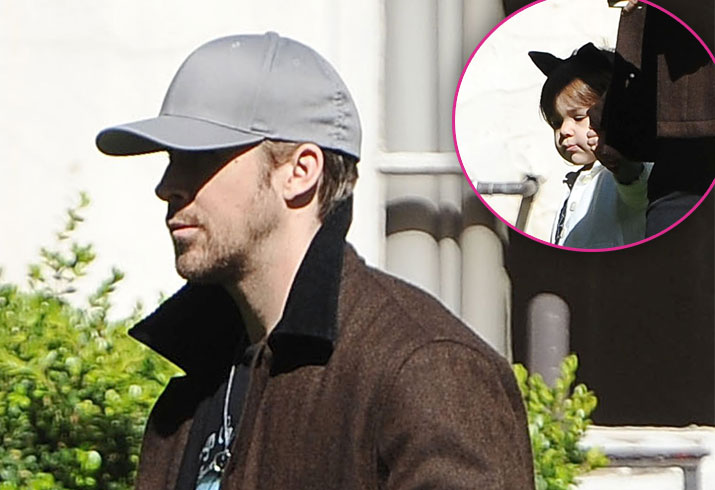 Ryan gosling spotted daughter esmeralda oscar weekend