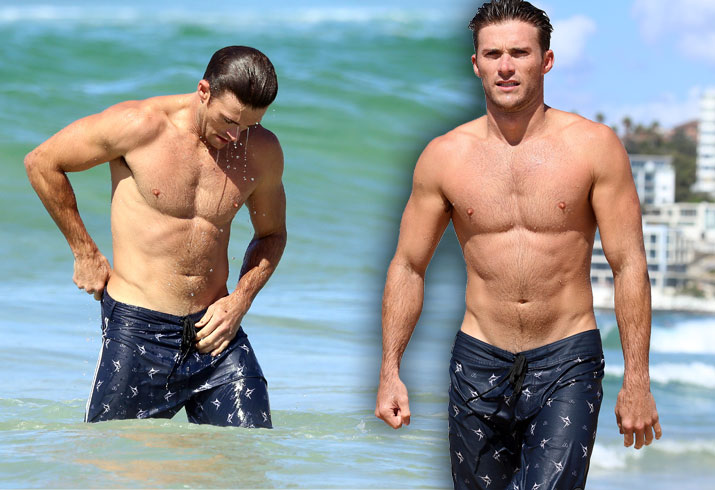 Scott Eastwood Shirtless Bondi Beach Swimming