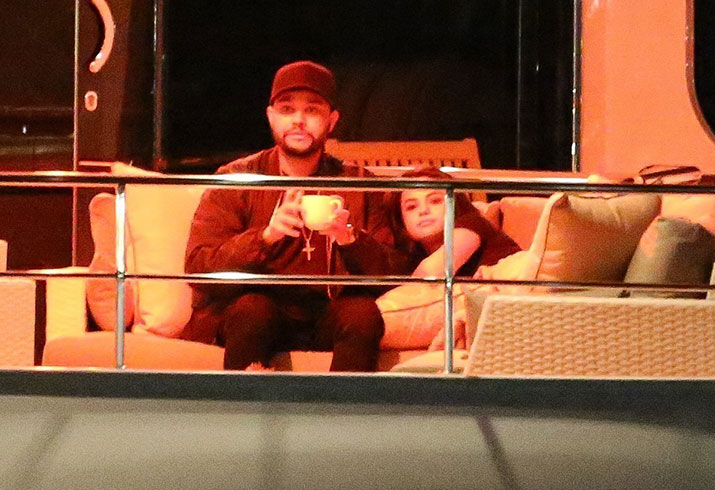 Selena gomez dating the weeknd private yacht kissing
