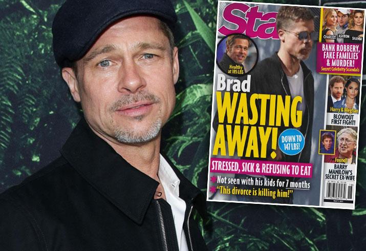 Brad Pitt Divorce Weight Loss Skinny Sick Pics