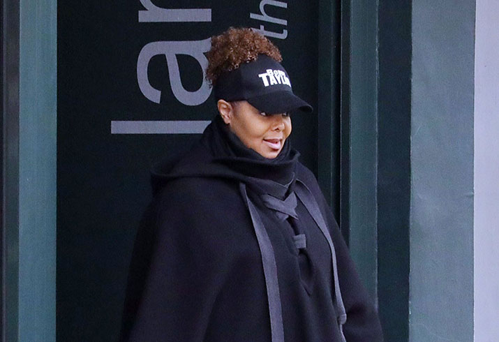 Janet jackson divorce london first sighting photos