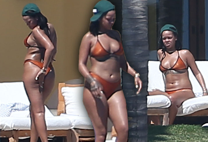 Rihanna Bikini Thong Butt Weight Gain Mexico Pics