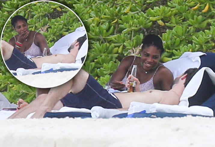Serena Williams Prengant Engaged Alexis Ohanian Beach Mexico Pics