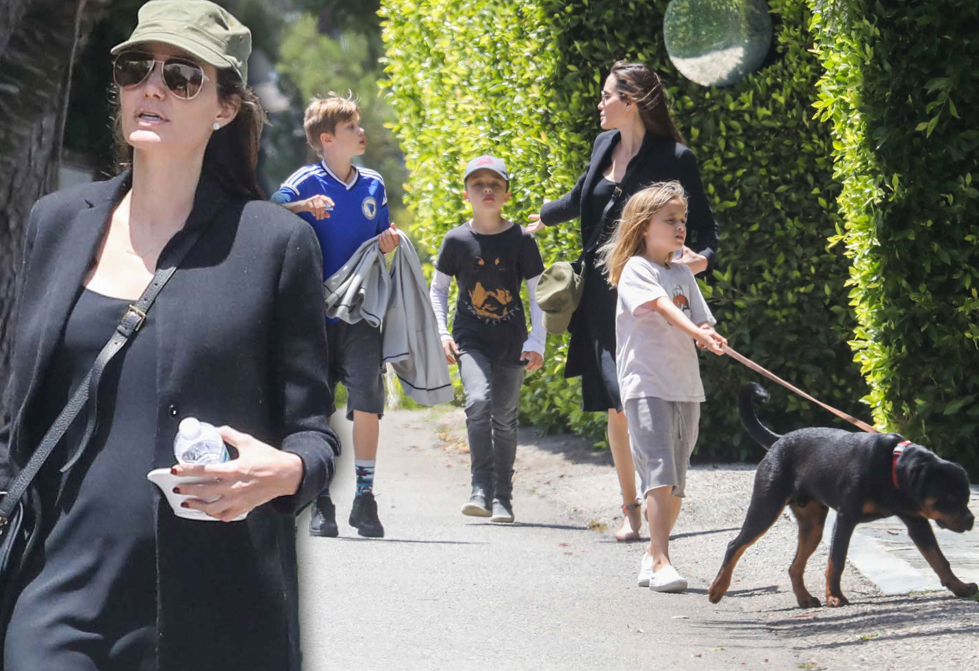 Angelina Jolie Kids Walk Divorce Pics
