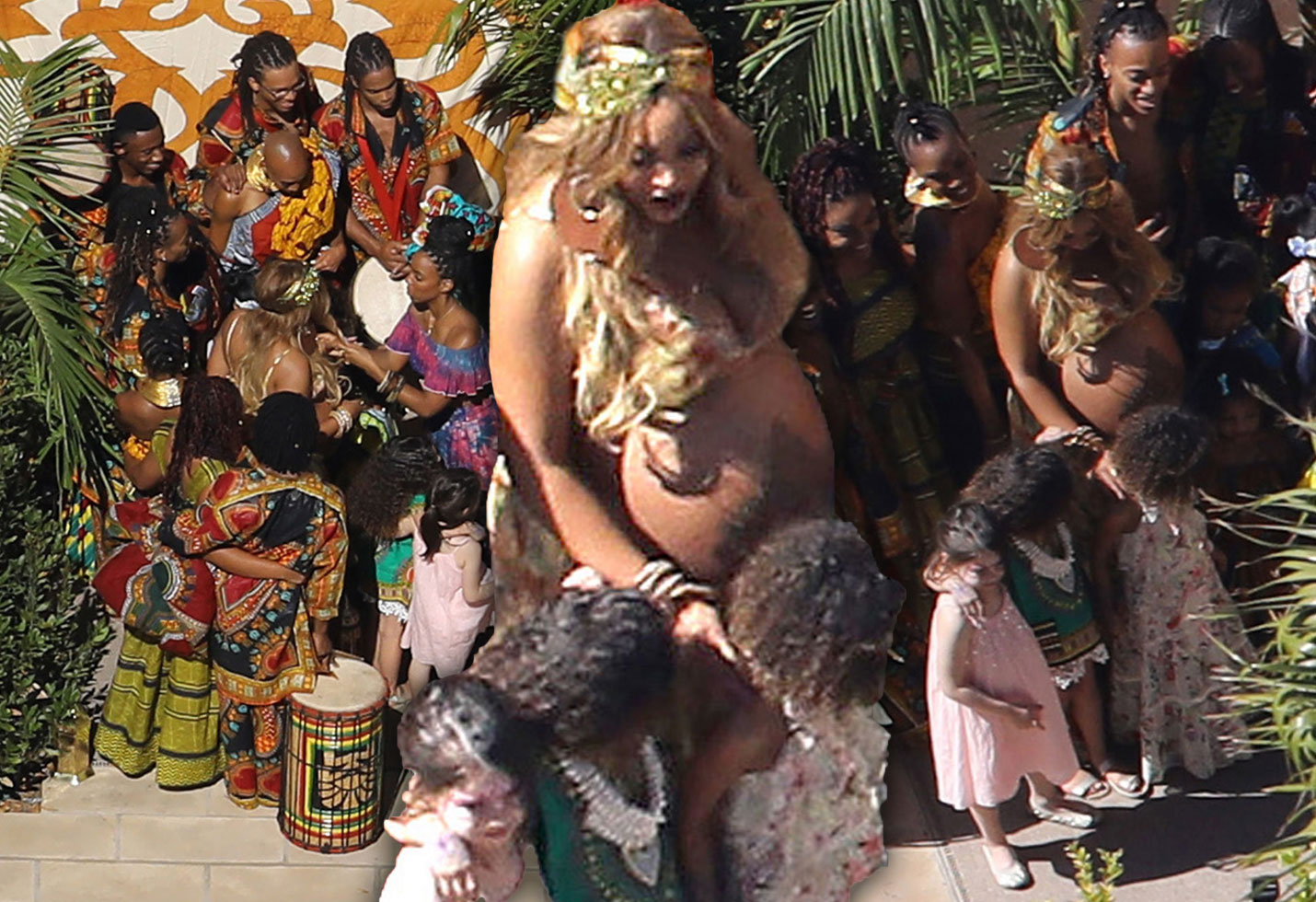 Beyonce Pregnant Twins Baby Shower Pics