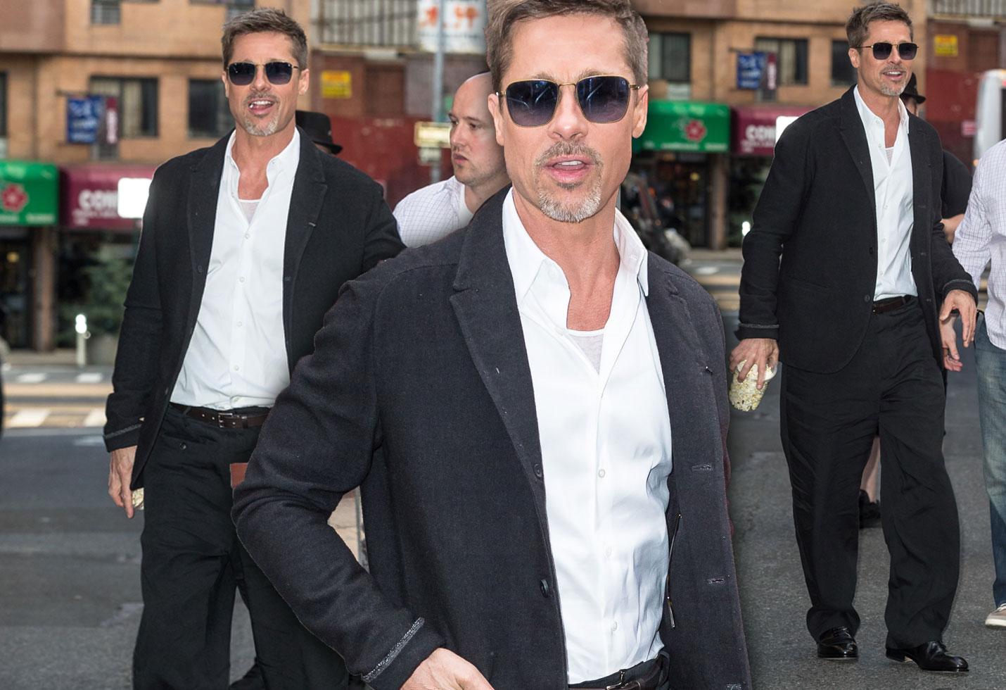 Brad Pitt Skinny Weight Divorce Baggy Pants VIdeo