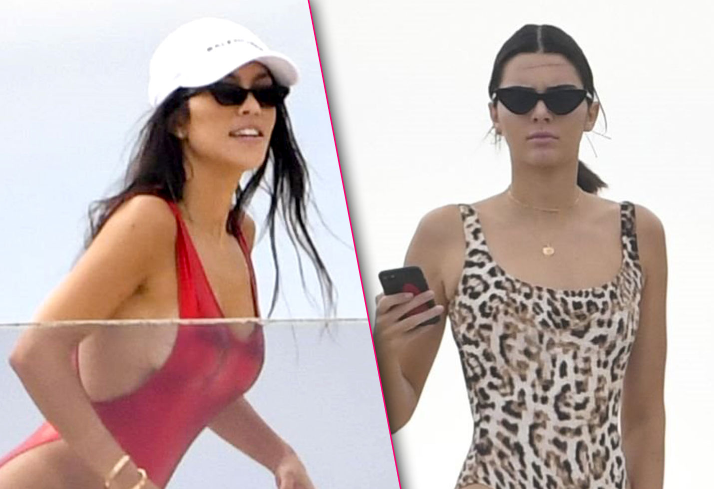 Kendall jenner kourtney kardashian cannes swimsuit butts