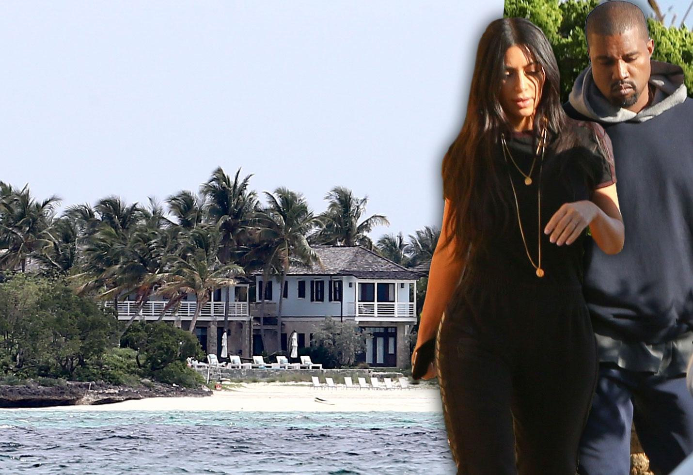 Kanye West Kim Kardashian Bahamas Anniversary Pics PP
