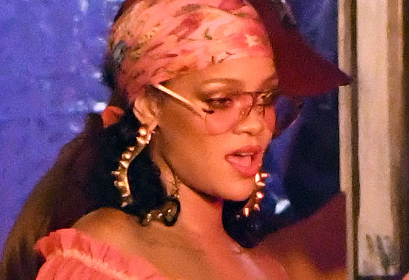 Rihanna exposes nipples sheer shirt music video