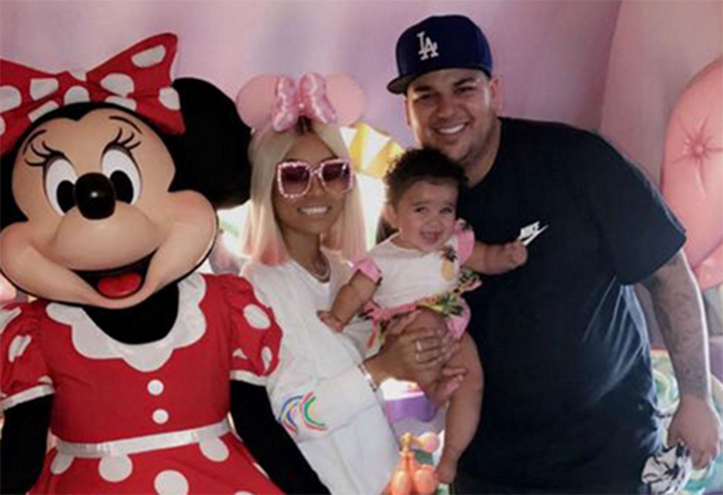 Rob kardashian reunite blac chyna dream fathers day
