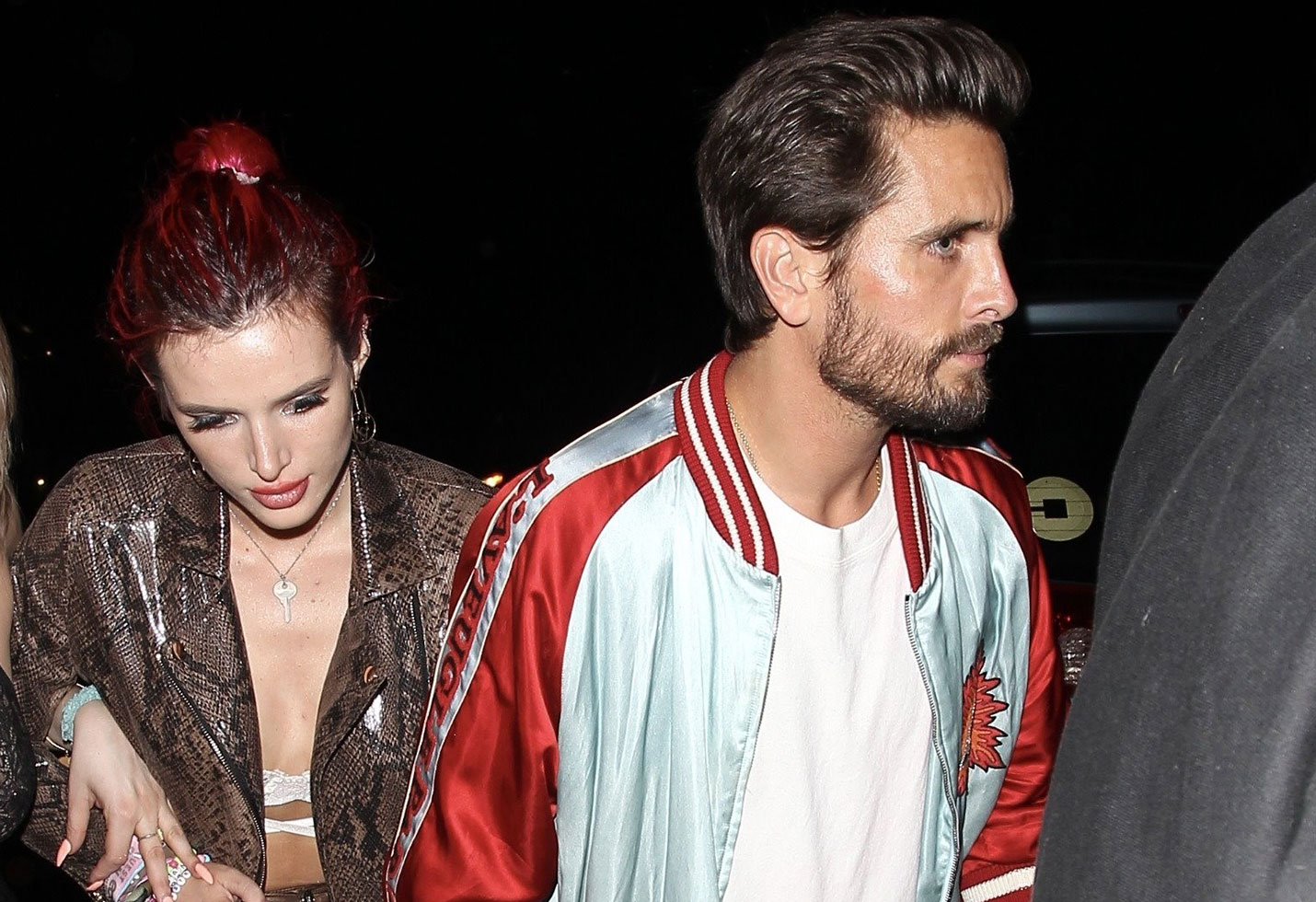 Scott disick drinking bella hadid partying