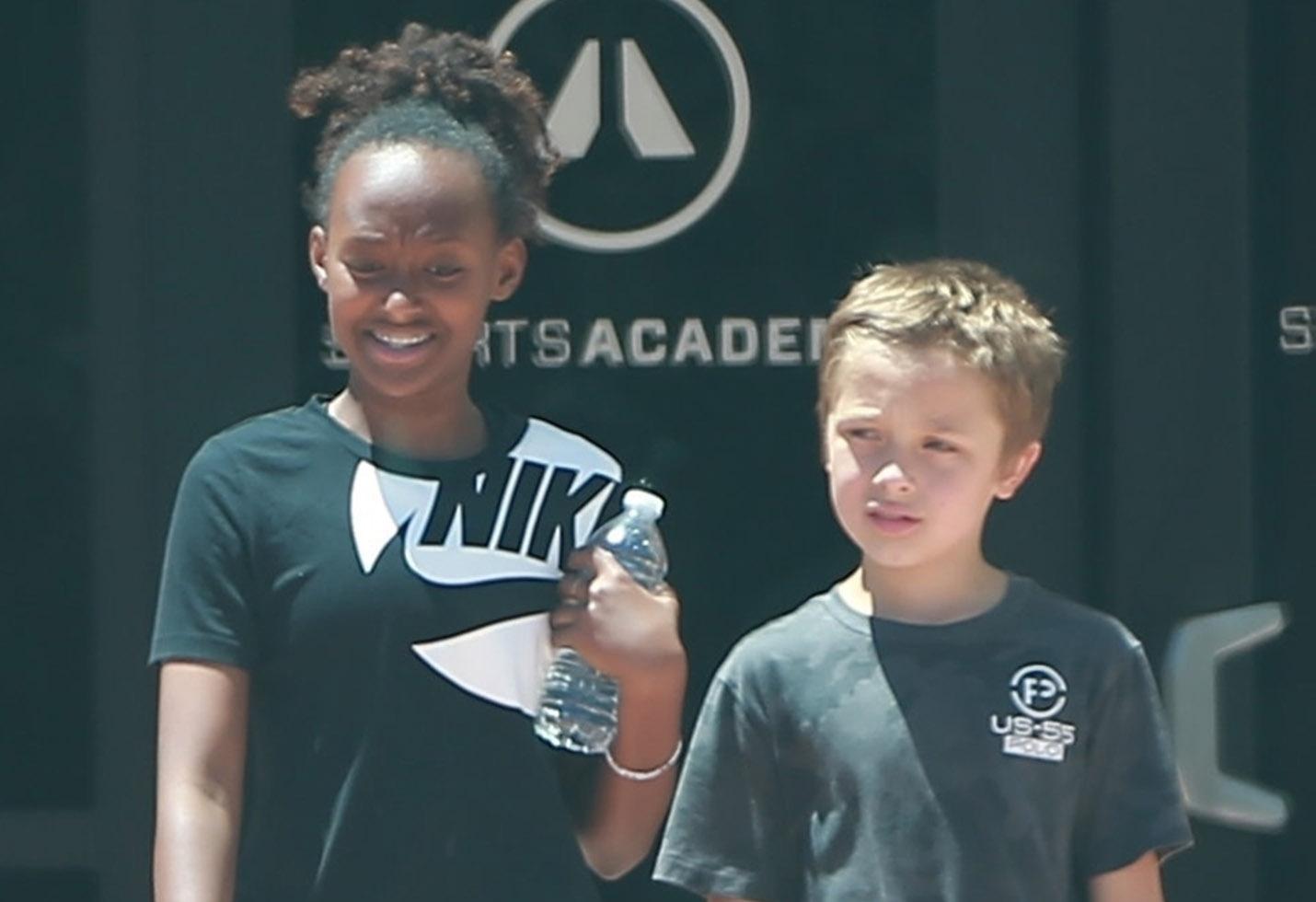 Angelina Jolie's kids enjoy a day at Sports Academy